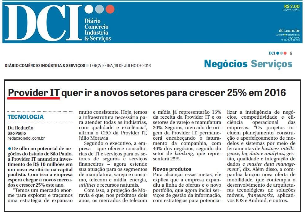 DCI - Crescimento Provider IT