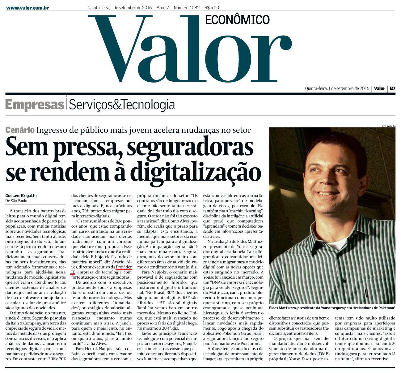 Valor Econômico – 01/09/2016 – Caderno Empresas - Pág. B7