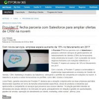 Provider IT fecha parceria com Salesforce para ampliar ofertas de CRM na nuvem