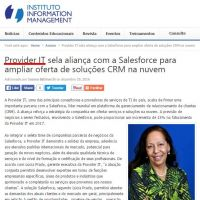 Provider IT sela aliança com a Salesforce para ampliar oferta de soluções CRM na nuvem