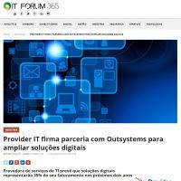 Provider IT firma parceria com Outsystems para ampliar soluções digitais