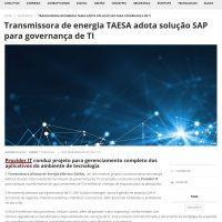Transmissora de energia TAESA adota solução SAP para governança de TI